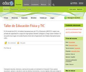 Taller de Educación Física y TIC