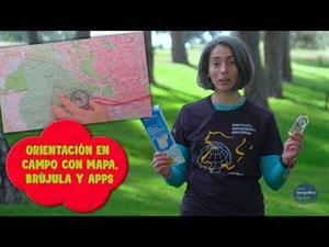 Orientación en campo con mapa, brújula y apps.