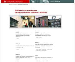 Publicaciones académicas: Actas de encuentros en el Cervantes