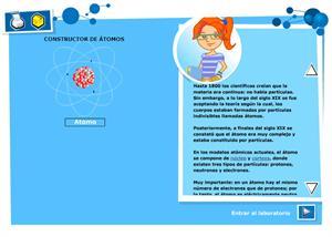 Constructor de átomos: práctica virtual sobre átomos y su configuración electrónica para Secundaria