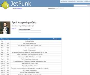 April Happenings Quiz