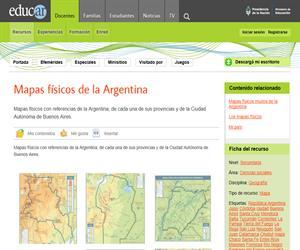 Mapas físicos de la Argentina