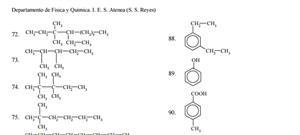 Ejercicios química orgánica con soluciones(IES Atenea)