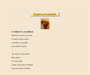 El perro y el cocodrilo, lectura comprensiva interactiva