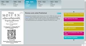 Shakespeare Interactive Timeline