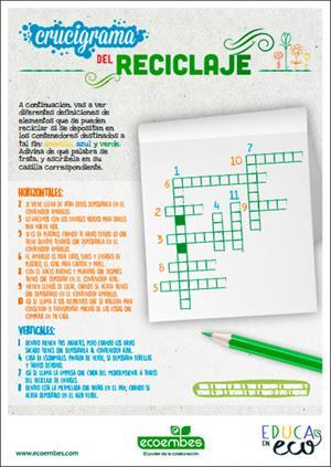 Crucigrama del reciclaje (EducaEnEco)