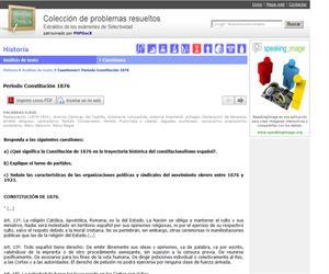 Periodo Constitución 1876. (Selectividad.tv)