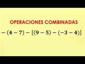 Suma y resta con parentesis y corchetes - operaciones combinadas con numeros enteros