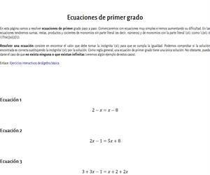Ecuaciones lineales resueltas