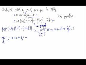 Parámetro y rectas paralelas