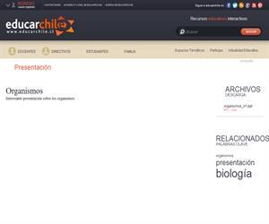 Organismos (Educarchile)