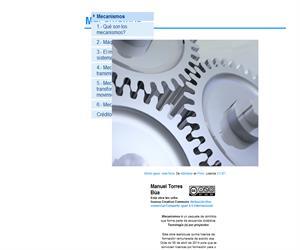 Mecanismos, máquinas, sistemas mecánicos, transmisión y transformación del movimiento