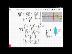 Práctica das lentes: desenvolvemento matemático