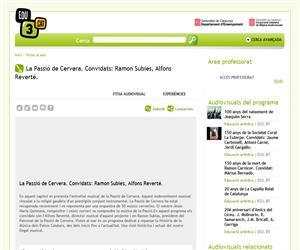 La Passió de Cervera. Convidats: Ramon Subies, Alfons Reverté. (Edu3.cat)