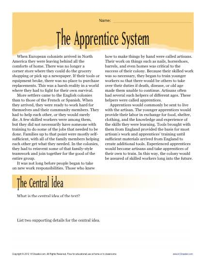 The Apprentice System
