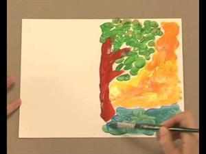 Simetría pintando con témperas (EducaThyssen)