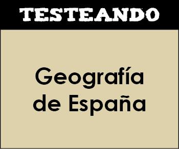Geografía de España. 6º Primaria - Conocimiento del medio (Testeando)