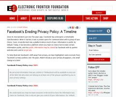 Facebook's Eroding Privacy Policy: A Timeline | Electronic Frontier Foundation