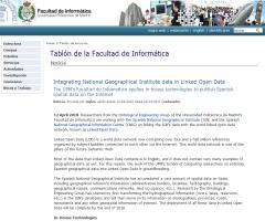 Integrating National Geographical Institute data in Linked Open Data (Facultad de Informática de la UPM)