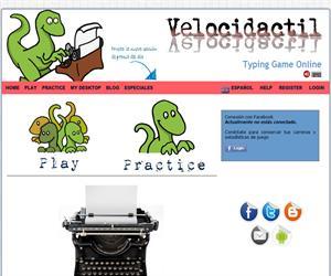 Velocidactil, un juego online de Mecanografía