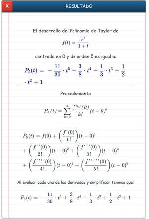 Polinomio de Taylor online