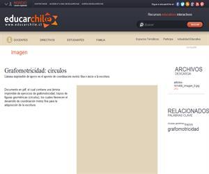 Grafomotricidad: círculos (Educarchile)