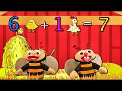 Aprender a sumar es facil del 0 al 6 con Las Abejitas Sumadoras