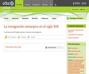 La inmigración extranjera en el siglo XIX