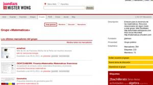 Grupo 'Matematicas': cientos de recursos educativos de ciencias exactas (Mister Wong)
