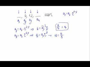 Términos de una progresión geométrica