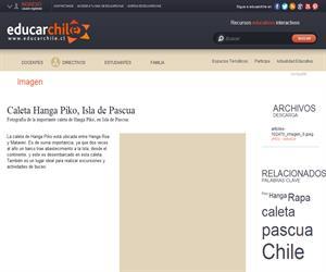 Caleta Hanga Piko, Isla de Pascua (Educarchile)