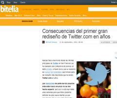 Consecuencias del primer gran rediseño de Twitter.com en años (Richard Simoes - Bitelia)