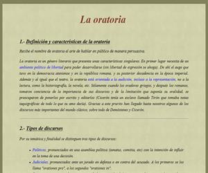 Apuntes sobre La Oratoria Romana