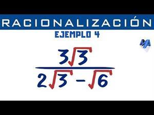 Racionalización de denominadores | Ejemplo 4 Binomio