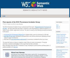 Primeros informes del W3C Provenance Incubator Group - Procedencia de las fuentes - W3C