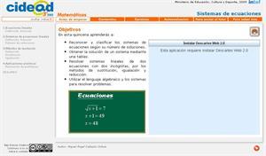 Sistema de ecuaciones (cidead)