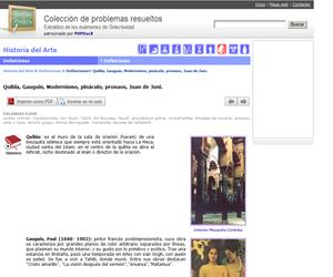 Quibla, Gauguin, Modernismo, pináculo, pronaos, Juan de Juni. (Selectividad.tv)