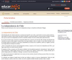 La independencia de Chile (Educarchile)
