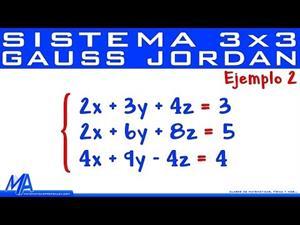 Solución de sistemas de 3x3 método de Gauss Jordan | Ejemplo 2