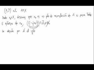 Definición de punto de acumulación en topología