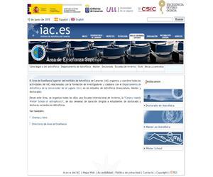 Instituto de Astrofísica de Canarias - IAC - Estudiantes