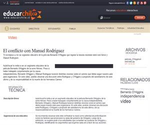 El conflicto con Manuel Rodríguez (Educarchile)