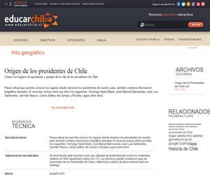 Origen de los presidentes de Chile (Educarchile)