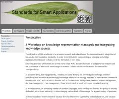 A Workshop on knowledge representation standards and integrating knowledge sources