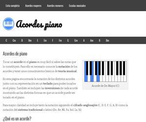 Los acordes musicales en el piano