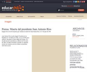 Prensa. Ha muerto el Presidente de la República (Educarchile)