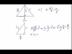 Área de un triángulo equilátero (versión rápida)