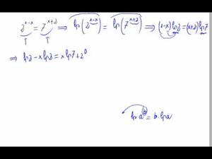 Ecuación exponencial, bases distintas