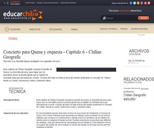 Concierto para Quena y orquesta - Capítulo 6 Chilian Geografic (Educarchile)