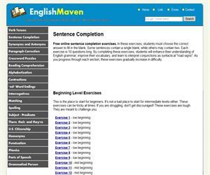 Completa frases en inglés